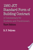 1980 JCT Standard Form of Building Contract