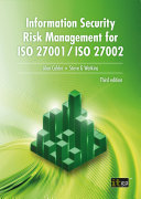 Information Security Risk Management for ISO 27001 ISO 27002  third edition