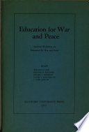 Education for War and Peace