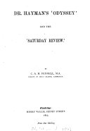 Dr  Hayman s  Odyssey  and the  Saturday review