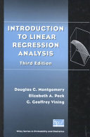 Introduction To Linear Regression Analysis Book PDF