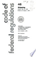 The Code of Federal Regulations of the United States of America Book