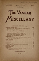 The Vassar Miscellany
