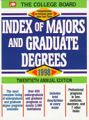 Index of Majors and Graduate Degrees  1998