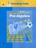 Pre Algebra Notetaking Guide