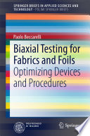 Biaxial Testing for Fabrics and Foils Book