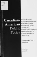Canadian American Public Policy