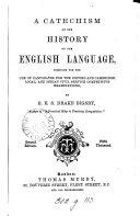 A catechism of the history of the English language
