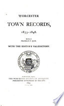 Collections of the Worcester Society of Antiquity Book