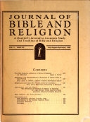 Journal of Bible and Religion
