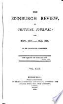 The Edinburgh Review  or Critical Journal  for Nov  1817    Feb 1818
