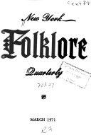 New York Folklore Quarterly