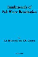 Fundamentals of Salt Water Desalination Book