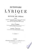 Dictionnaire Lyrique