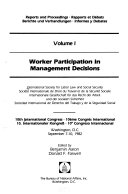 Reports and Proceedings  Worker participation in management decisions