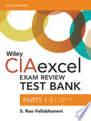 Wiley CIAexcel Exam Review 2016 Test Bank