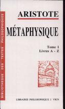 Métaphysique: Livres A-Z ebook