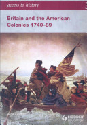 Britain and the American Colonies  1740 89 Book
