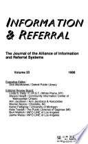 Information and Referral  : The Journal of the Alliance of Information and Referral Systems , Bände 20-21