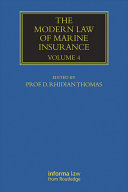 Pdf The Modern Law of Marine Insurance Telecharger