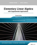 Cover of Elementary Linear Algebra with Supplemental Applications