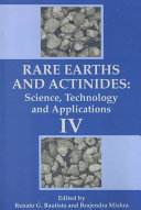 Rare Earths and Actinides