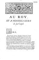 Au Roy, et a Nosseigneurs de son Conseil. (Réponse... de la nation de Picardie à une requête présentée au Roi le 1er septembre 1720 pour la nation de Normandie)...
