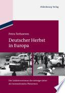 Deutscher Herbst in Europa  : Der Linksterrorismus der siebziger Jahre als transnationales Phänomen