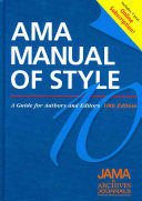 Ama Manual Of Style A Guide For Authors And Editors Book PDF