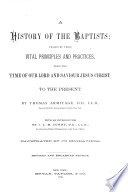 A History of the Baptists Book PDF