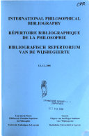 Bibliografisch Repertorium Van de Wijsbegeerte