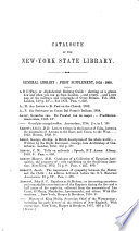 Catalogue of the New York State Library, 1861