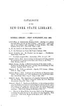 Catalogue of the New York State Library  1861
