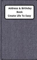 Address   Birthday Book Create Life to Easy
