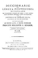 Diccionario de lingua portuguesa