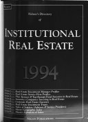 Nelson's Directory of Institutional Real Estate