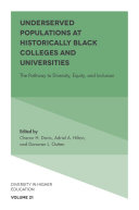 Pdf Underserved Populations at Historically Black Colleges and Universities