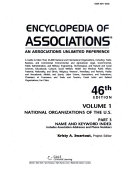 Encyclopedia of Associations V1 Index 46 Pt3