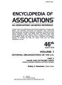 Encyclopedia Of Associations V1 Index 46 Pt3