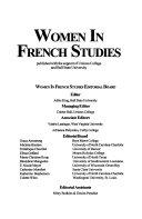 Women in French Studies ebook