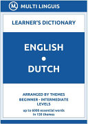 Pdf English-Dutch Learner's Dictionary (Arranged by Themes, Beginner - Intermediate Levels) Telecharger