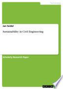 Sustainability in Civil Engineering
