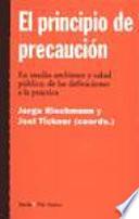 EL PRINCIPIO DE PRECAUCION