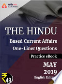 May 2019 Edition of The Hindu Newspaper Based One Liners eBook  English Medium