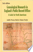 Genealogical Research In England S Public Record Office