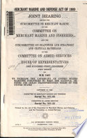 Merchant Marine and Defense Act of 1989