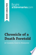 Chronicle of a Death Foretold by Gabriel Garc  a M  rquez  Book Analysis  Book
