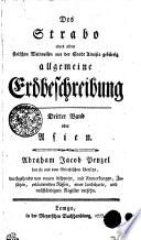 Des Strabo eines alten stoischen Weltweisen aus der Stadt Amasia gebürtig allgemeine Erdbeschreibung