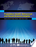 Population Health  Behavioral and Social Science Insights Book