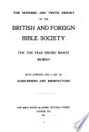 The Report of the British and Foreign Bible Society